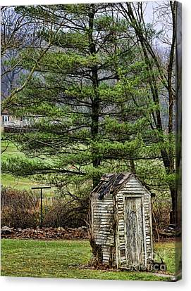 Outhouse In The Backyard Canvas Print
