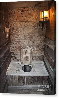 Outhouse Interior Canvas Print