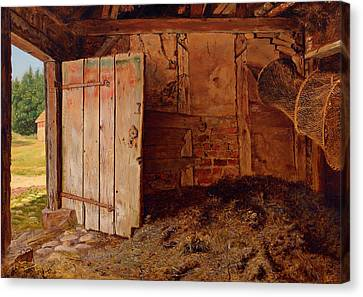 Outhouse Interior Canvas Print by Mountain Dreams