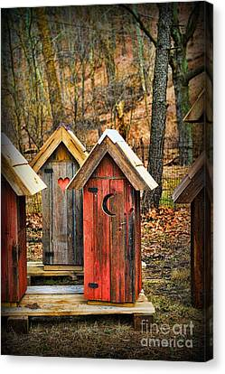 Outhouse It's Your Pick Canvas Print by Paul Ward