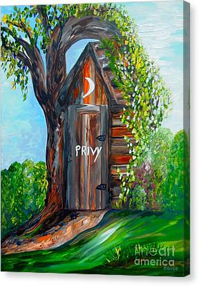 Outhouse - Privy - The Old Out House Canvas Print by Eloise Schneider