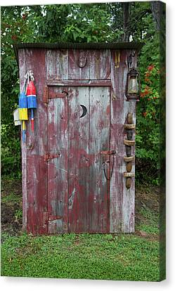 Outhouse Shed In A Garden, Marion Canvas Print by Panoramic Images