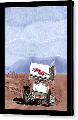 Outlaw Race Car Canvas Print by Jack Pumphrey