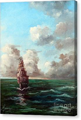 Canvas Print featuring the painting Outrunning The Storm by Lee Piper