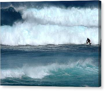 Outrunning The Wave Canvas Print