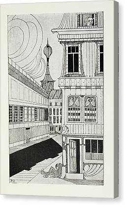 Unconscious Canvas Print - Outside A House by British Library