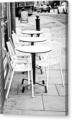 Outside Cafe Canvas Print by Tom Gowanlock