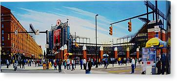 Outside Camden Yards Canvas Print