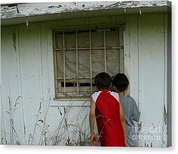 Canvas Print featuring the photograph Outside Looking In by Jane Ford