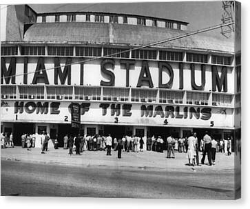Outside Of Miami Stadium Canvas Print by Retro Images Archive