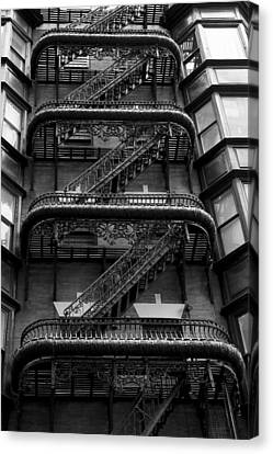Outside Stairs Canvas Print