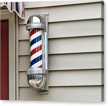 Outside The Barbershop Canvas Print by Dan Sproul