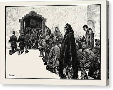 Outside The Chapel, Woodford Boycotted Police Ireland Canvas Print by Irish School