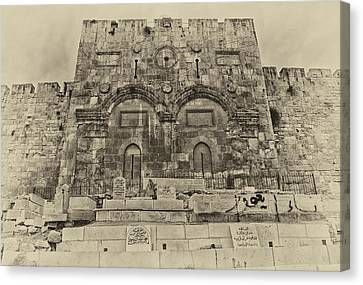 Outside The Eastern Gate Old City Jerusalem Canvas Print