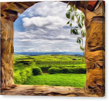 Outside The Fortress Wall Canvas Print