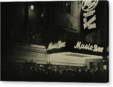 Outside The Music Box Theatre Canvas Print by Remie Lohse