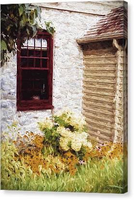 Outside The Window Canvas Print by Jo-Anne Gazo-McKim