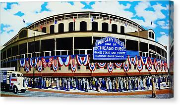Outside Wrigley Field Canvas Print