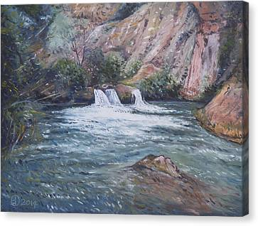 Ouzoud Waterfalls Tanaghmeilt Morocco Canvas Print by Enver Larney