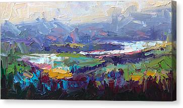 Overlook Abstract Landscape Canvas Print by Talya Johnson
