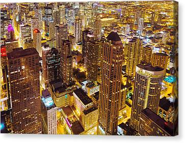 Over Chicago Canvas Print