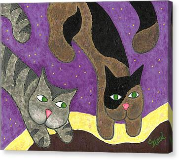 Over Cover Cats Canvas Print