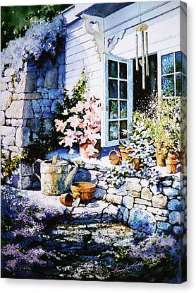 Over Sleepy Garden Walls Canvas Print by Hanne Lore Koehler