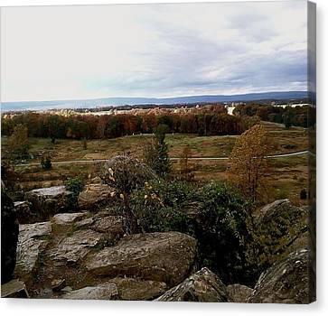 Canvas Print featuring the photograph Over The Battle Field Of Gettysburg by Amazing Photographs AKA Christian Wilson