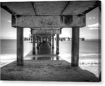 Over The Bay Canvas Print by Nicholas Evans