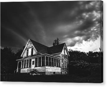 Over The Hills Canvas Print by Kenny  Noddin