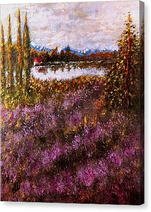 Over The Lavender Field.. Canvas Print by Cristina Mihailescu