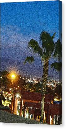 over the Luckman @ My CSU L.A. Canvas Print by Kenneth James