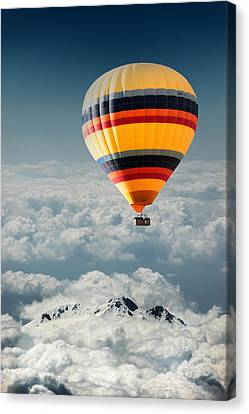 Over The Mountain Canvas Print by Okan YILMAZ