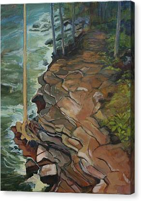 Over The River And Through The Woods Canvas Print by Barbara Thomas