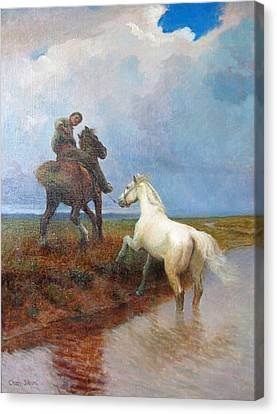 Over The Rivulet Canvas Print