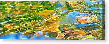 Over The Rocks Panoramic Canvas Print by Terril Heilman