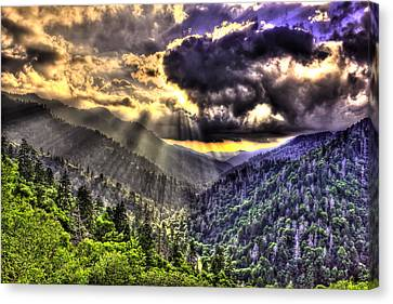 Over The Top The Great Smoky Mountains Canvas Print by Reid Callaway