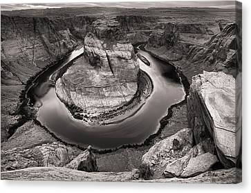 Overcast At Horseshoe Bend Canvas Print