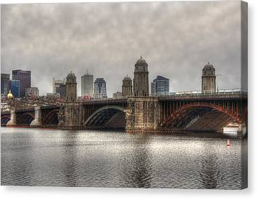 Overcast On The Longfellow Canvas Print by Joann Vitali