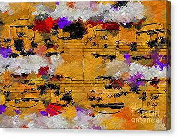Canvas Print featuring the digital art Overcast Opus 1 by Lon Chaffin