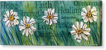 Overcome Canvas Print by Lisa Fiedler Jaworski