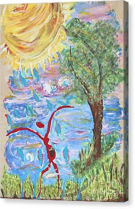 Overflow Canvas Print by Satya Wimbish