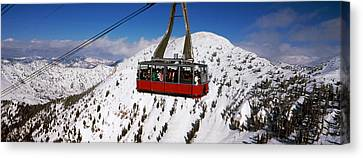 Overhead Cable Car In A Ski Resort Canvas Print