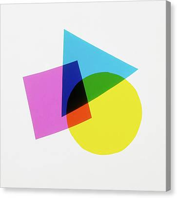 Overlapping Geometric Shapes Canvas Print by Dorling Kindersley/uig