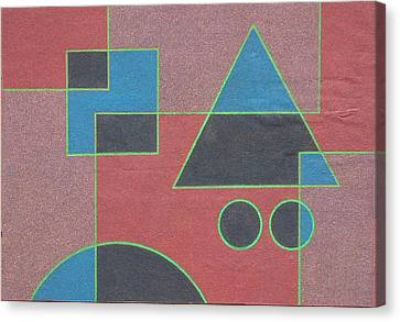 Overlay. 2003 Canvas Print by Peter-hugo Mcclure