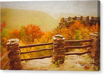 Overlook - Fall In West Virginia Canvas Print by Kathleen K Parker