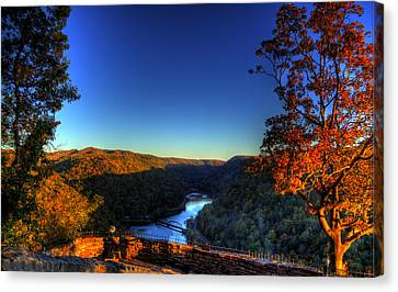 Canvas Print featuring the photograph Overlook In The Fall by Jonny D