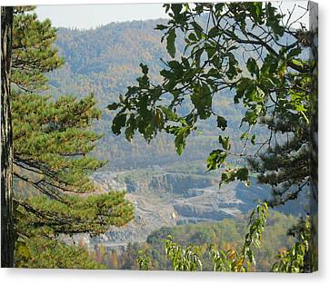 Overlooking An Old Quarry Canvas Print by Sarah Manspile