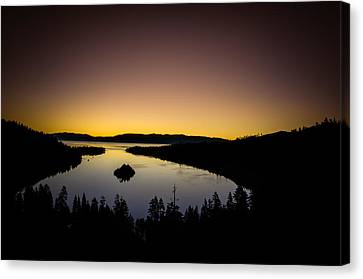 Overlooking Emerald Bay At Dawnlake Tahoe Canvas Print by Scott McGuire