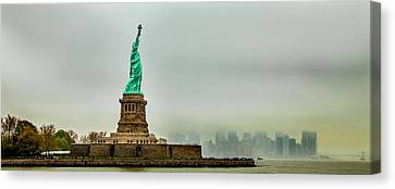 Overlooking Liberty Canvas Print by Az Jackson